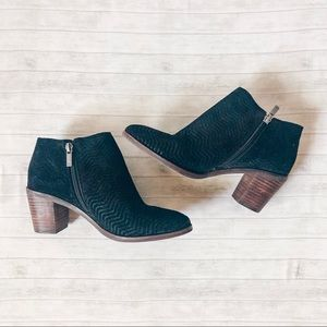 Lucky Brand - Black Velvet Booties